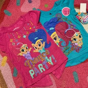 Shimmer & Shine 2 Pack Toddler Tees NWT